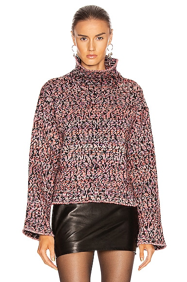 Wool Jacquard Turtleneck Sweater