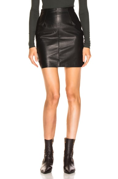 Elise Leather Skirt