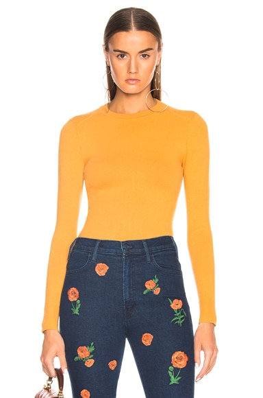 JoosTricot Bodycon Crew Neck Sweater in Turmeric | FWRD