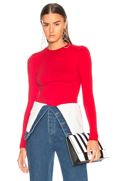 JoosTricot Bodycon Crew Neck Sweater in Scarlet | FWRD