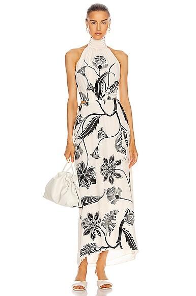 Johanna Ortiz ANCIENT DYNASTY EMBROIDERED MAXI DRESS