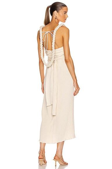 Sentimental Water Draped Midi Dress