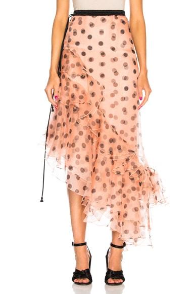 Walking Palm Silk Organza Skirt