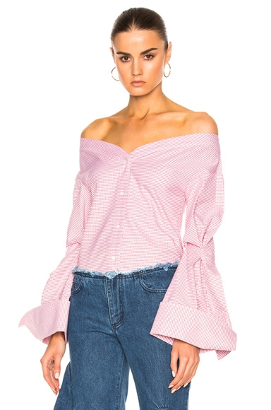 Off The Shoulder V-Neck Top