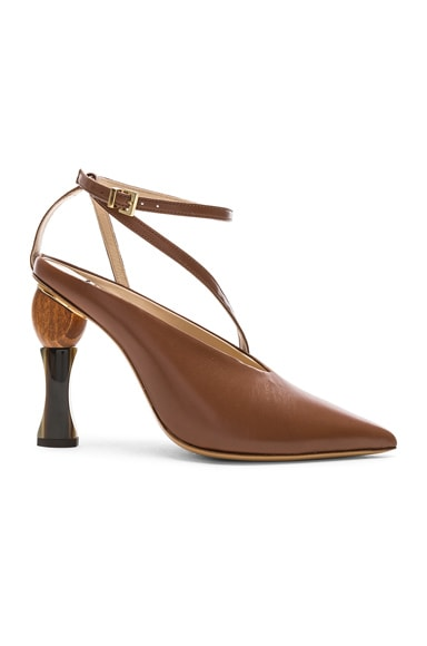 Leather Faya Heels