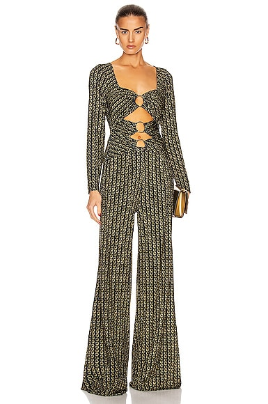 Chain Cutout Jumpsuit