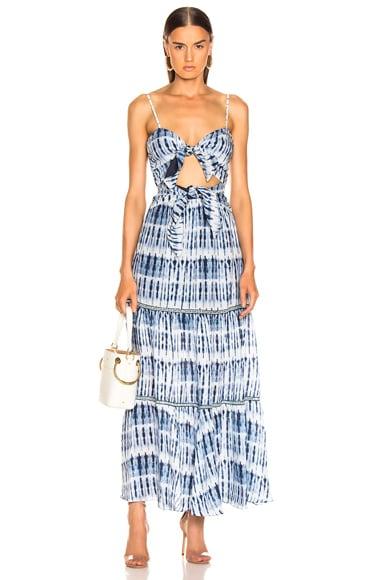 Hawaiian Sarong Bandeau Cut Out Dress