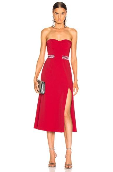 Chain Bustier Slit Dress