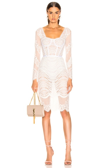 Lace Bustier Bodysuit Dress