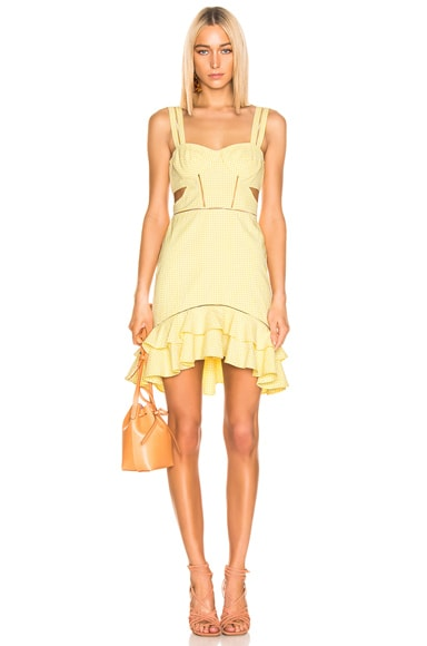 cba3b50558 Seersucker Gingham Cutout Mini Dress Seersucker Gingham Cutout Mini Dress. JONATHAN  SIMKHAI