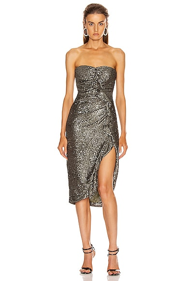 Sequin Strapless Bustier Dress