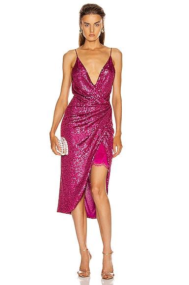 Sequin Cami Wrap Dress