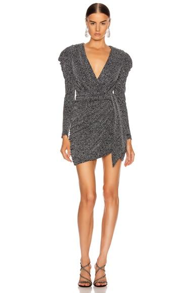 Glitter Jersey Deep V Mini Dress by Jonathan Simkhai