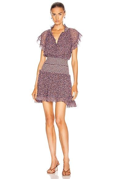 Serena Floral Chiffon Dress