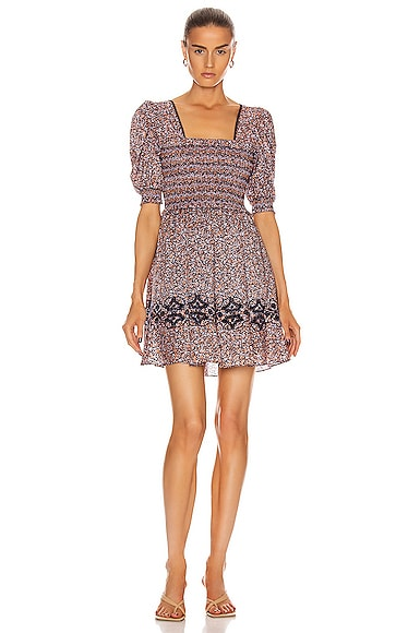 Athena Floral Smocked Dress