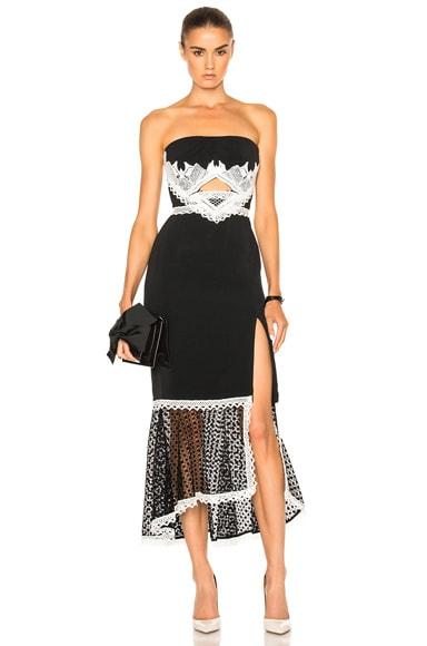Window Pane Lace Dress