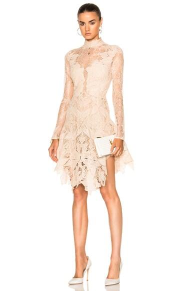 Multimedia Corded Long Sleeve Lace Dress
