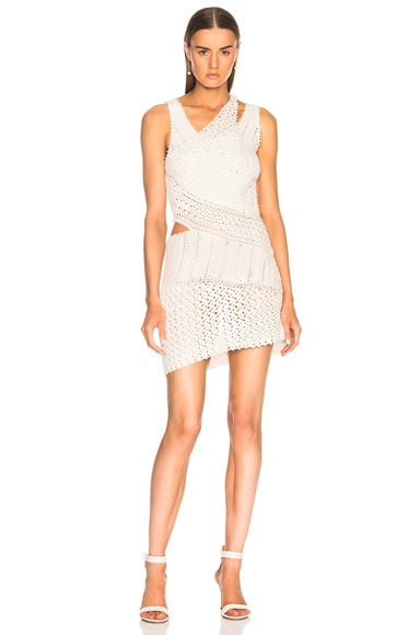 for FWRD Pearl Crochet Mini Dress