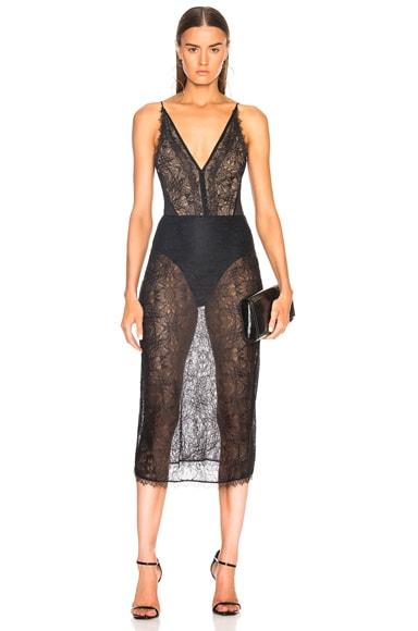 for FWRD Silk Bodysuit Dress