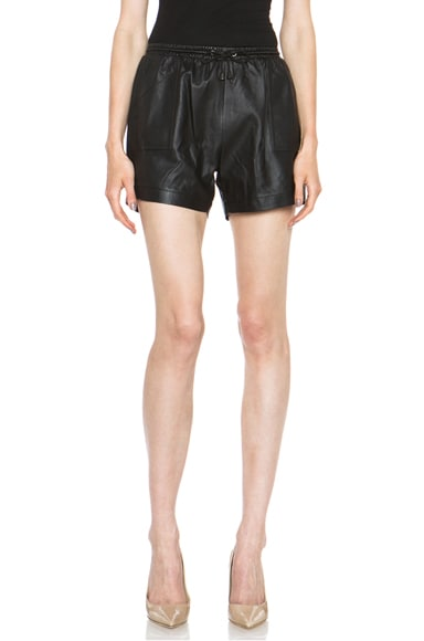 Leather Pocket Shorts