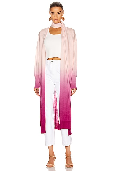 Ombre Cashmere Scarf Cardigan