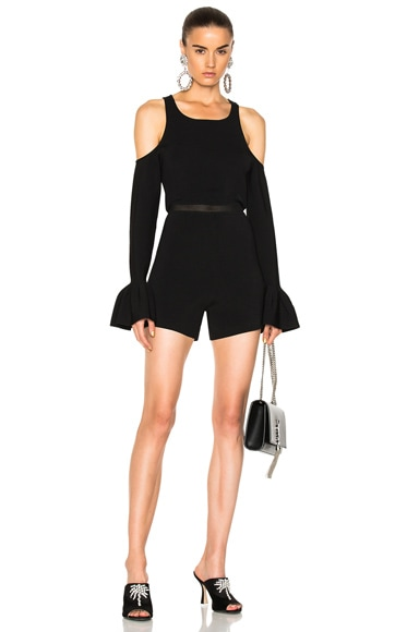 Knit Cold Shoulder Romper