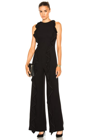 for FWRD Ruffle Crepe Jumpsuit
