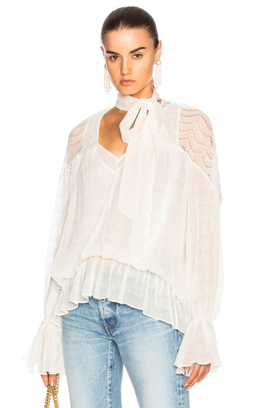 Smocking Lace Top