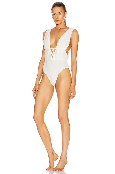 Shelley Lace Up Swimsuit