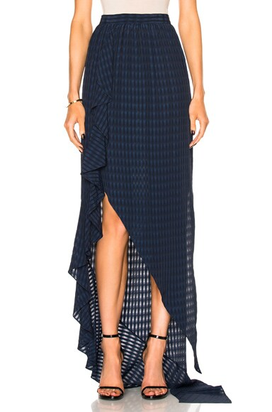Ruffle Wrap Skirt