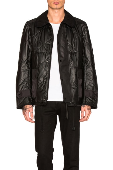 Synthetic Leather Quilting Jacket