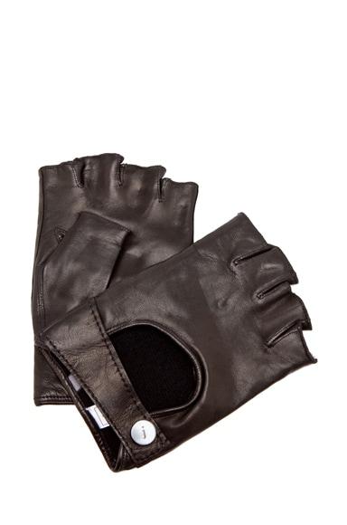 Runway Fingerless Leather Gloves