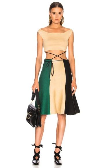 Rustic Tricolor Dress