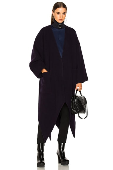 Pointed Hem Double Face Coat