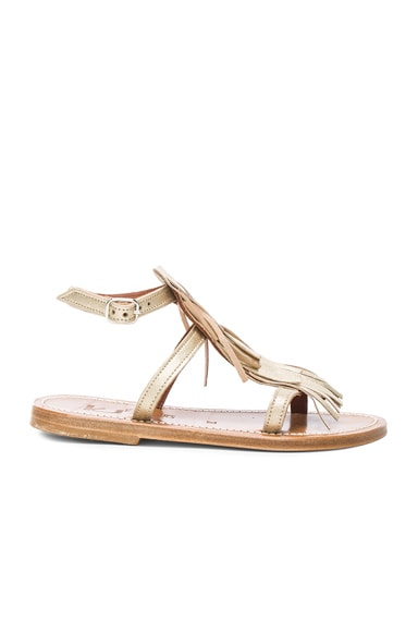Leather Corsair Sandals in Gold
