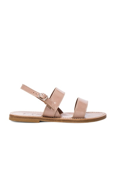 Patent Leather Barigoule Sandals