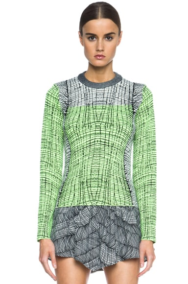 Graphic Curtain Knit Top