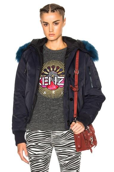 Tech Jacket With Sheep Fur