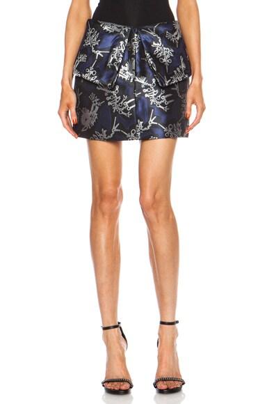 Monster Jacquard Foldover Skirt
