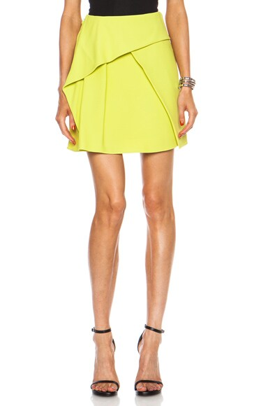 Folded Double Crepe Mini Skirt