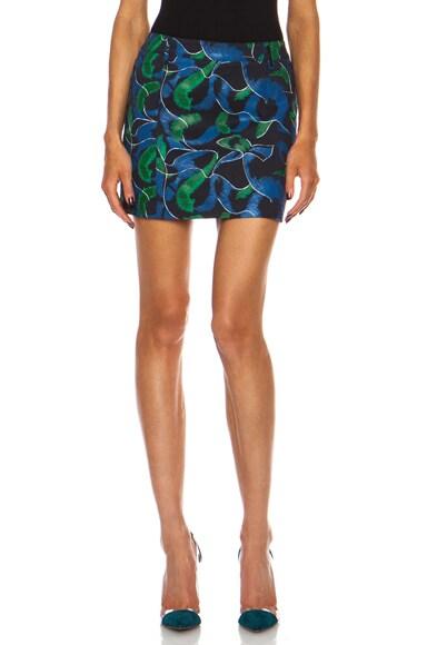 Fur Denim Cotton-Blend Skirt