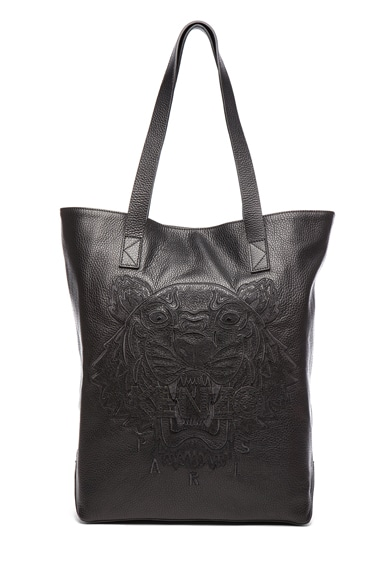 Leather Tiger Tote