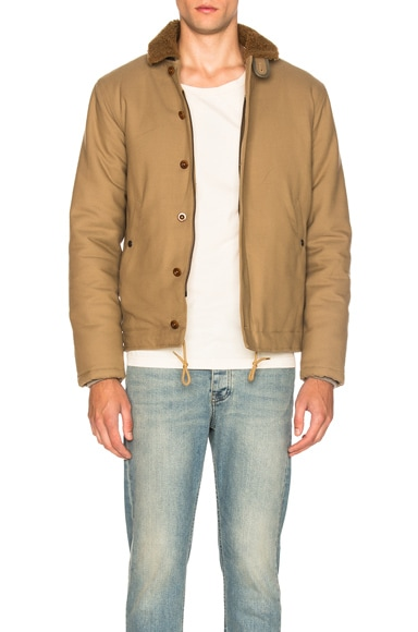Sheep Shearling Collar Jacket