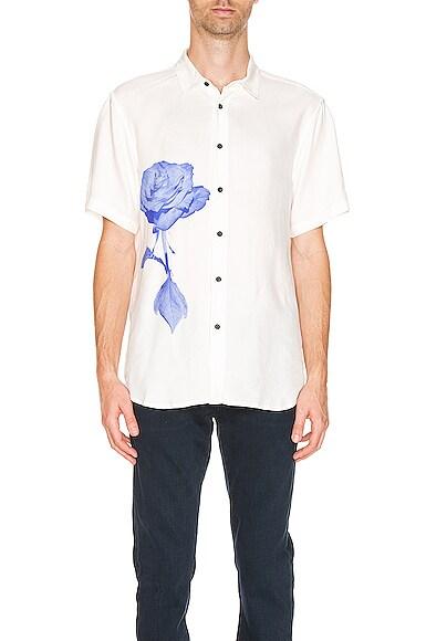 Ksubi No Daisy Short Sleeves Shirt In White