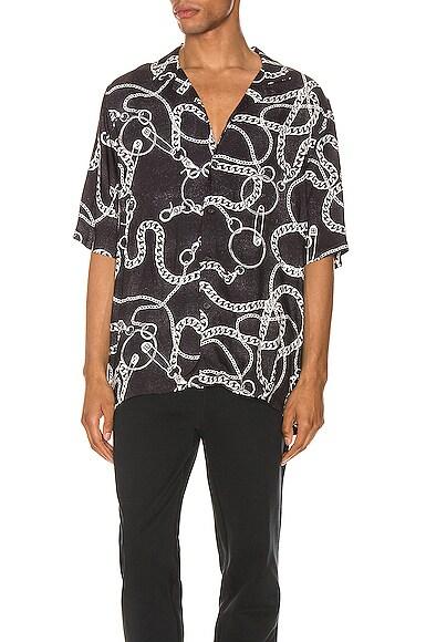 Ksubi Heavy Metal Short Sleeve Shirt In Black