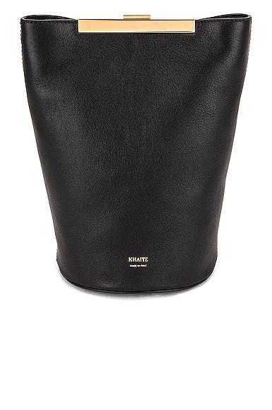 KHAITE Etta Crossbody Bag in Black