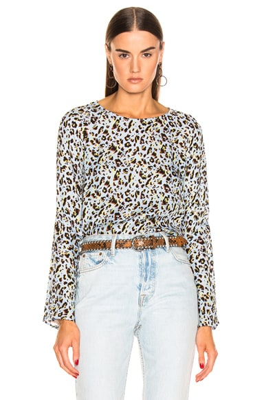 Dylan Wide Bell Sleeve Blouse