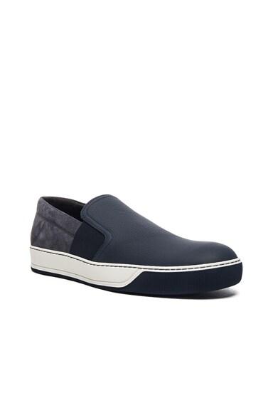 Opaco Grained Calfskin Slipper Sneakers