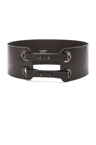 Calfskin Eyelet Belt with Ribbon