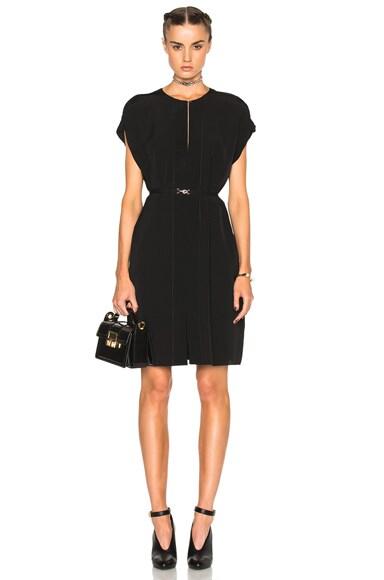 Split Ruffle Mini Dress